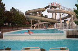 Slides and plungepool