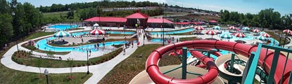 view of entire family aquatic center