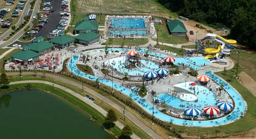 aerial photo -family aquatic center