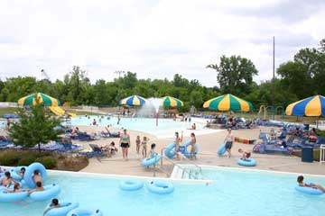 partial view of water park